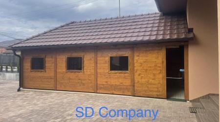 Drevená garáž na mieru