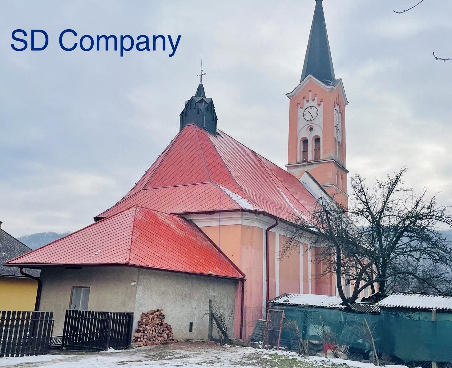 Rekonštrukcia strechy - evanjelický kostol, Gemerská Poloma